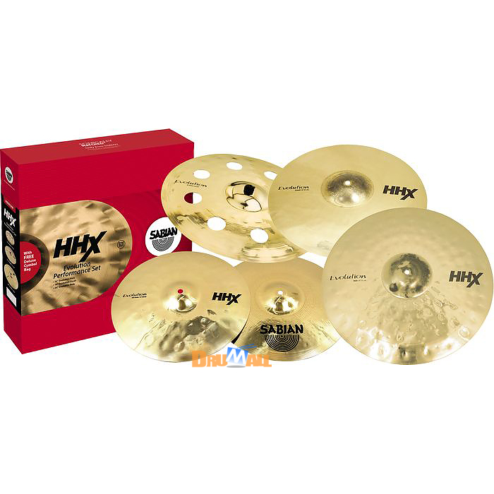 "[상담특가]Sabian HHX Evolution 심벌세트 + 18"" O-Zone Crash(15005XEBP)"